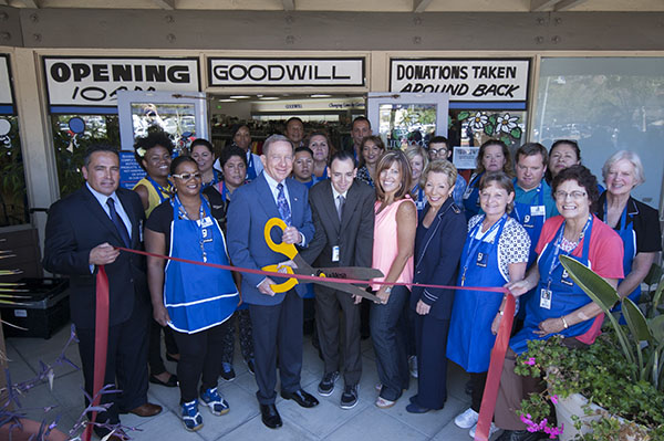 Grand opening ribbon cutting and celebration for the Goodwill in La Mesa.